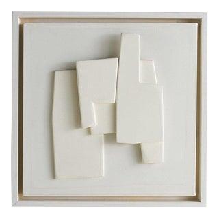 Edoardo Menini, Mixed Media on Canvas Artwork (Ivory) For Sale