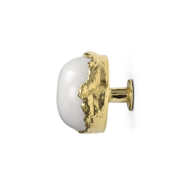 Contemporary Tiffany Quartz Le4003 Drawer Handle From Covet Paris For Sale - Image 3 of 6
