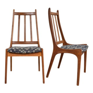1970s Scandinavian Modern Teak Side Chairs by Nordic of Ontario Canada - a Pair For Sale