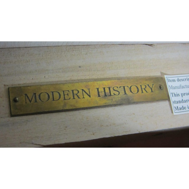 Tan Modern History Console Table For Sale - Image 8 of 9