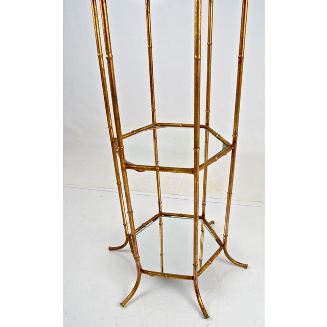 Pagoda Form Etagere, Parcel Gilded For Sale - Image 4 of 10