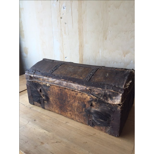 18th Century Antique Italian Trunk For Sale - Image 4 of 7