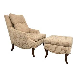 RJones Brighton Lounge Chair & Ottoman For Sale