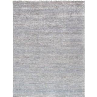 "Pasargad Green Silk & Wool Rug - 9' 0"" X 12' 1"""