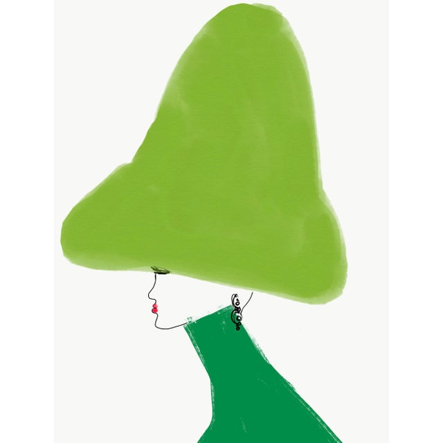 """Chapeau Beau Vert"" Limited Edition Print by Annie Naranian For Sale"
