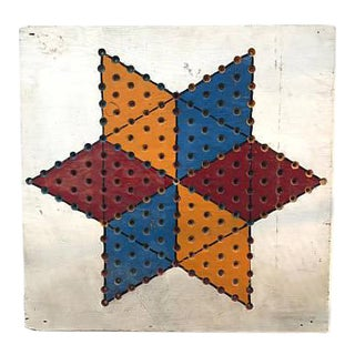 Wood Chinese Checkers Board