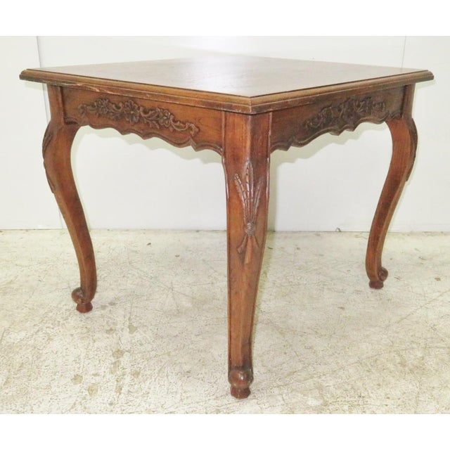 French Carved Walnut Side Table - Image 5 of 5