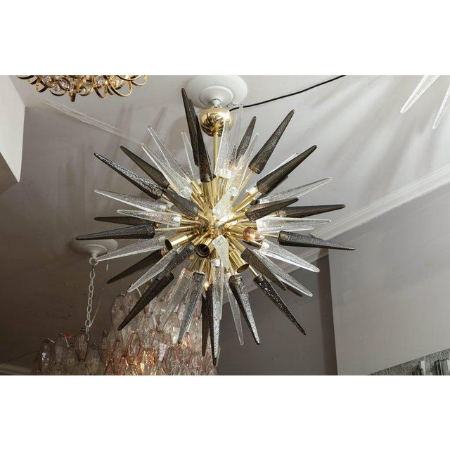 Murano Smoke and Clear Glass Spike Sputnik For Sale In New York - Image 6 of 10