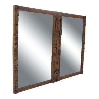 Mid-Century Modern Brutalist Mirror by Lane Furniture For Sale
