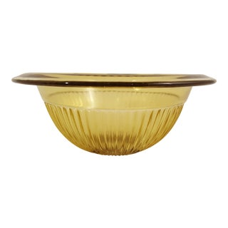 Yellow Ribbed Mixing Bowl, A Pair For Sale