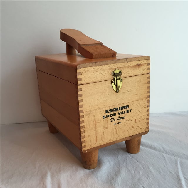Esquire Shoe Valet DeLuxe Wooden Box - Image 9 of 11