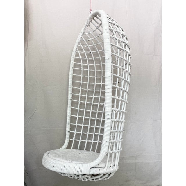 Vintage Hanging Rattan Egg Chair For Sale - Image 13 of 13