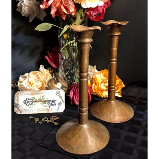 Vintage Rustic Southwestern Candleholders - a Pair Preview