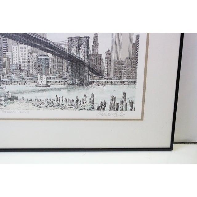 """""""Hail Brooklyn Bridge"""" Print of the Twin Towers For Sale - Image 4 of 9"""