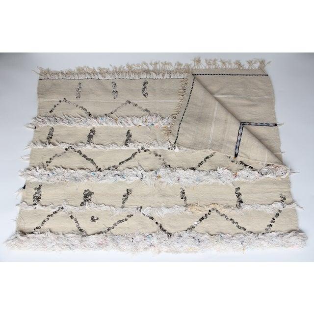 Vintage Moroccan Wedding Handira Blanket - Image 5 of 5