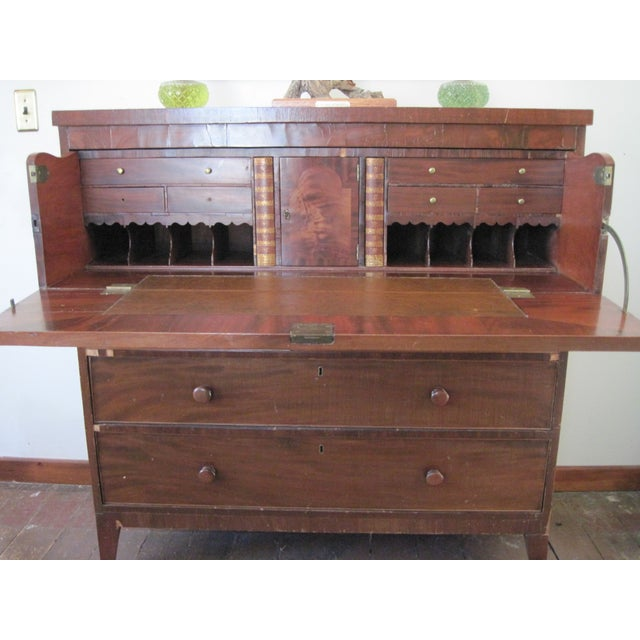 Traditional Antique Butler's Desk Circa 1828 For Sale - Image 3 of 5