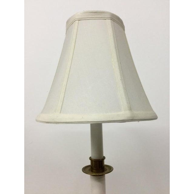 Minimalism Vintage Candelabra Vanity Lamp With Shade For Sale - Image 3 of 12