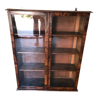 Antique Mahogany Veneered Hanging Cabinet For Sale