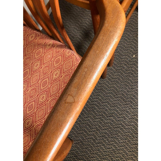 Set of 8 Mid Century Modern Danish Teak Dining Chairs by Benny Linden Slat Back For Sale - Image 11 of 13