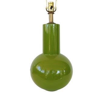 Gorgeous Green 1970s Ceramic Lamp