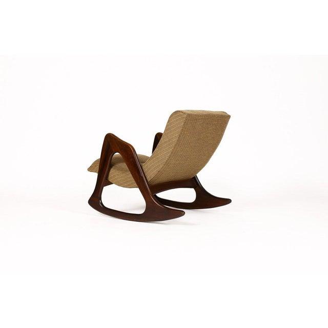 Danish Modern 1960s Danish Modern Adrian Pearsall for Craft Associates Walnut Lounge Rocker For Sale - Image 3 of 6