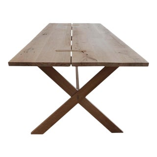 East End White Oak Trestle Table For Sale
