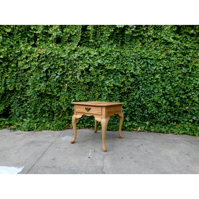 Rustic White Oak Side Table For Sale In San Francisco - Image 6 of 6
