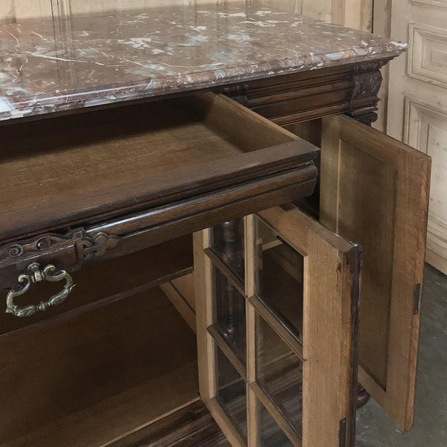 Late 19th Century 19th Century French Louis XIV Marble Top Display Buffet For Sale - Image 5 of 13