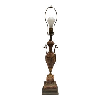 Stone & Bronze Urn Form Lamp Base For Sale