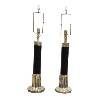 Vintage Ralph Lauren Art Deco Lamps - a Pair For Sale
