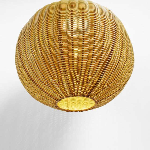 Faux Rattan Globe Lantern Small For Sale - Image 4 of 6