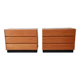 Scandinavian Modern Teak Three-Drawer Chests, Pair For Sale