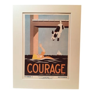 """Vintage 1930's """"Courage"""" Classroom Poster"""