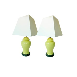 20th Century Chinese Ceramic Ginger Lamps - a Pair For Sale