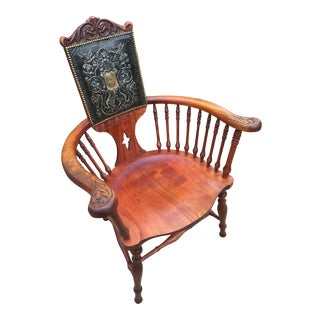 1875 Cherry California Furniture Co. Custom Barrel Spindle Chair For Sale