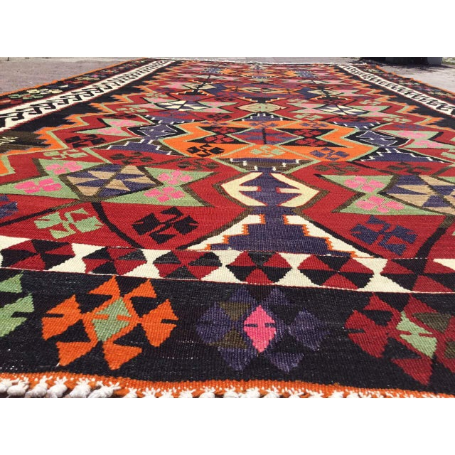 Islamic Turkish Kilim Rug For Sale - Image 3 of 9
