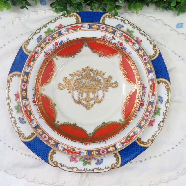 Vintage Mismatched Fine China, 5 Pc Place Setting - Image 5 of 10