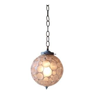 "1960s Mid Century Modern ""Dimple"" Pendant Lamp"