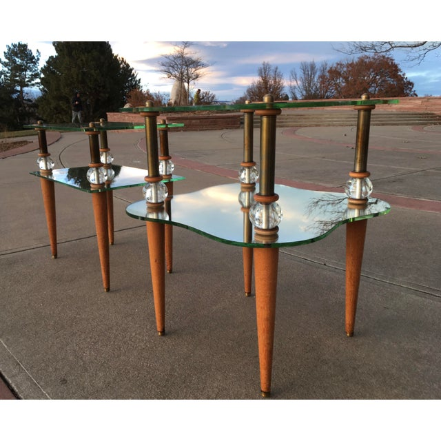 Transparent Mid-Century Modern Cloud Table Manner of Gilbert Rhode For Sale - Image 8 of 13
