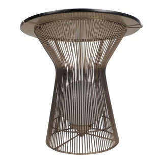 Unusual Warren Platner Style Side Table With a Light Inside For Sale