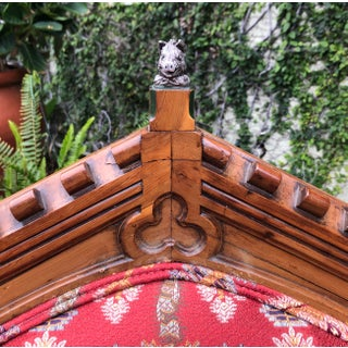 Antique 18c English Tudor Armchair W Boar's Head Preview
