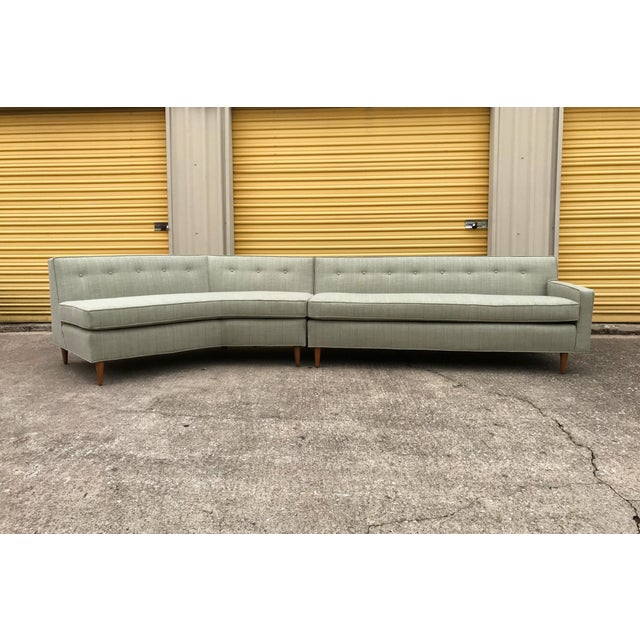 Amazing Marden Sectional with updated upholstery and foam. Most likely from the 1960s, solid wood construction and built...