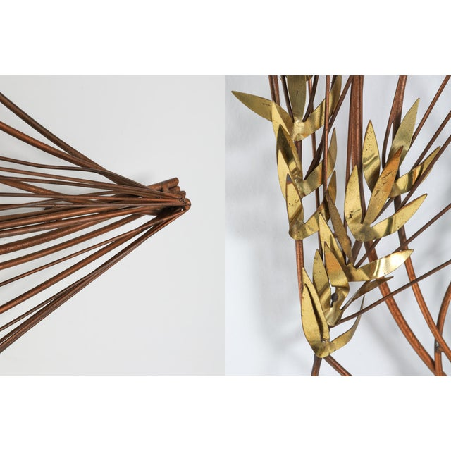 Curtis Jere Brass Wall Mounted Sculpture - 1980s For Sale - Image 6 of 8