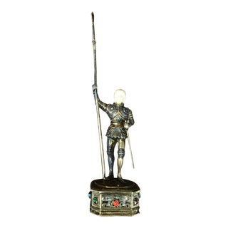19th Century Sterling & Vermeil Silver Joan of Arc Germany For Sale