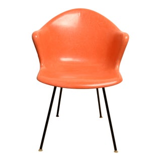 (FinalMarkdown) Mid Century Modern Chair Fiberglass Eames Style by Cole Steel Co. For Sale