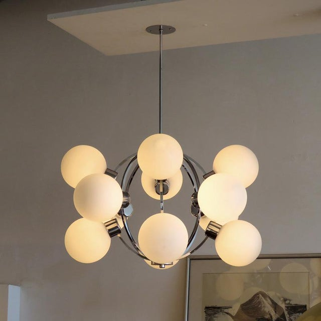 Mid-Century Modern 1970s German XL-Atomic Chandelier For Sale - Image 3 of 11