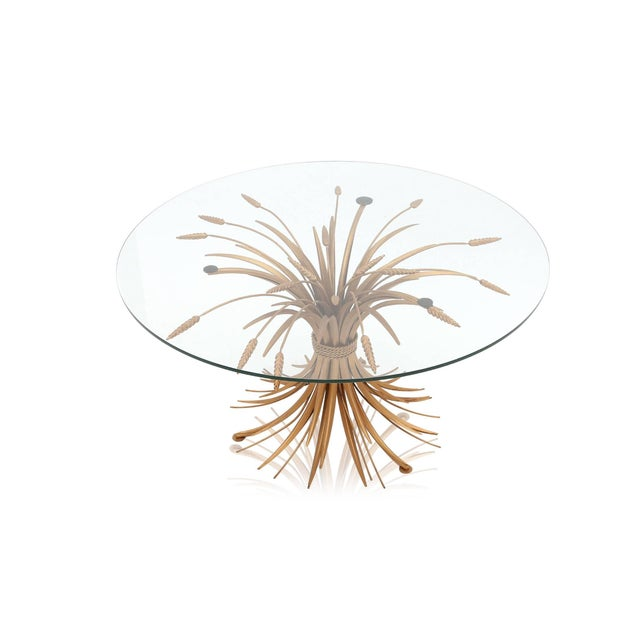 Brass wheat sheaf cocktail table. Coco chanel had a similar table in her living room. France, 1960s, Mid-Century Hollywood...