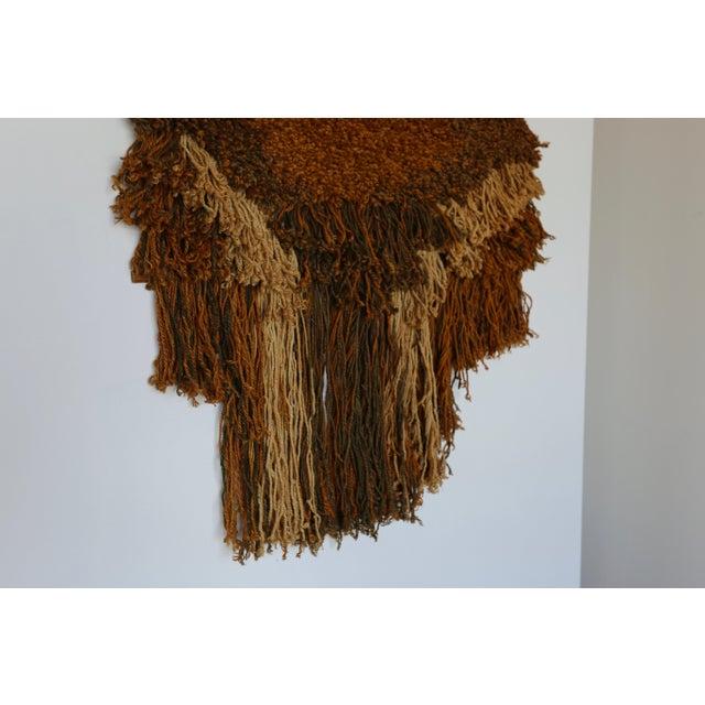Fiber 1970s Sculptural Wall Hanging Fiber Art For Sale - Image 7 of 9