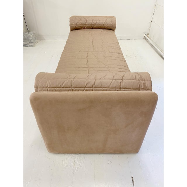 Rose John Saladino Blush Chaise For Sale - Image 8 of 11