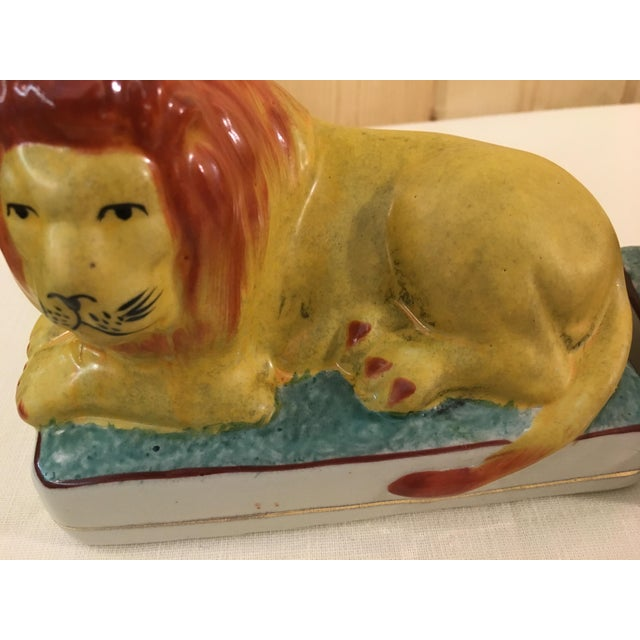 Ceramic Lion Bookends - A Pair For Sale - Image 9 of 11